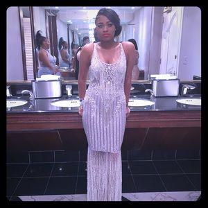 Sliver Prom dress